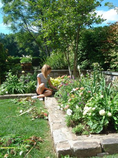 celeste in garden