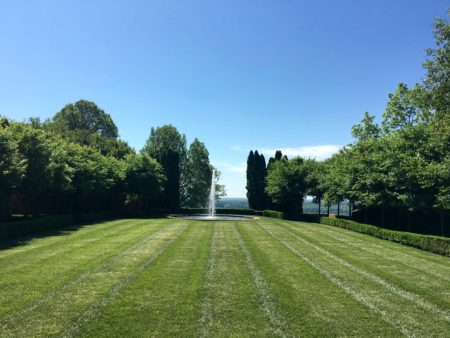 The croquet lawn at Mount Sharon/Photo: Here By Design