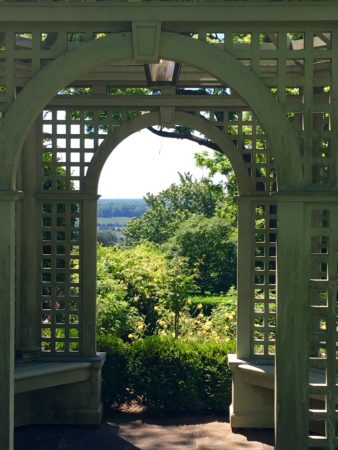 A view through the gazebo at Mount Sharon/Photo: Here By Design
